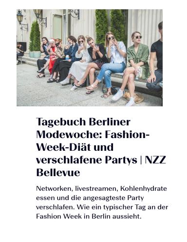 Fashion-Week-Diät und verschlafene Partys