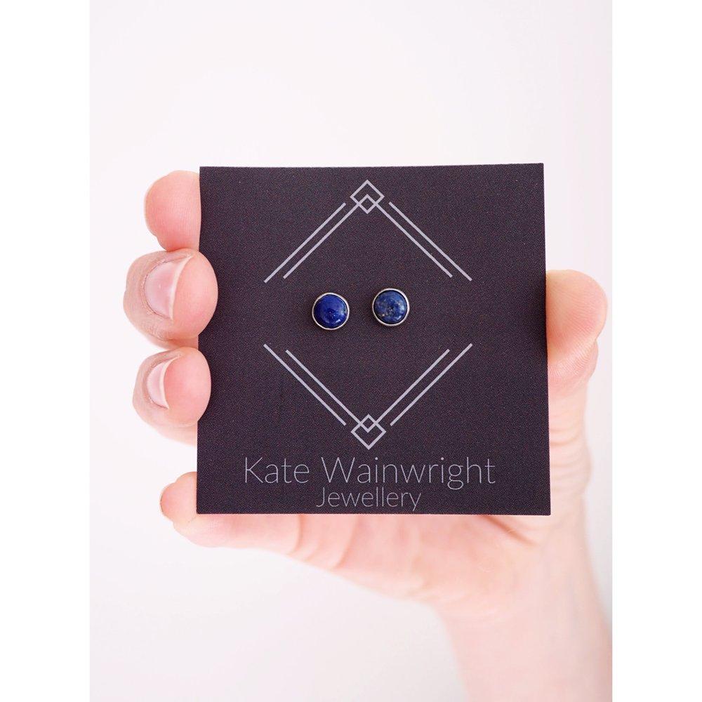 Kate Wainwright Jewellery Silver Deep Blue Sea Silver Studs