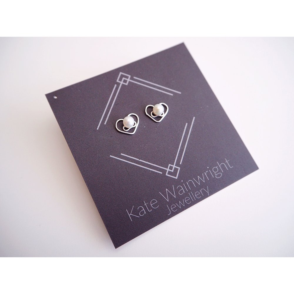 Kate Wainwright Jewellery | Silver and pearl wedding studs