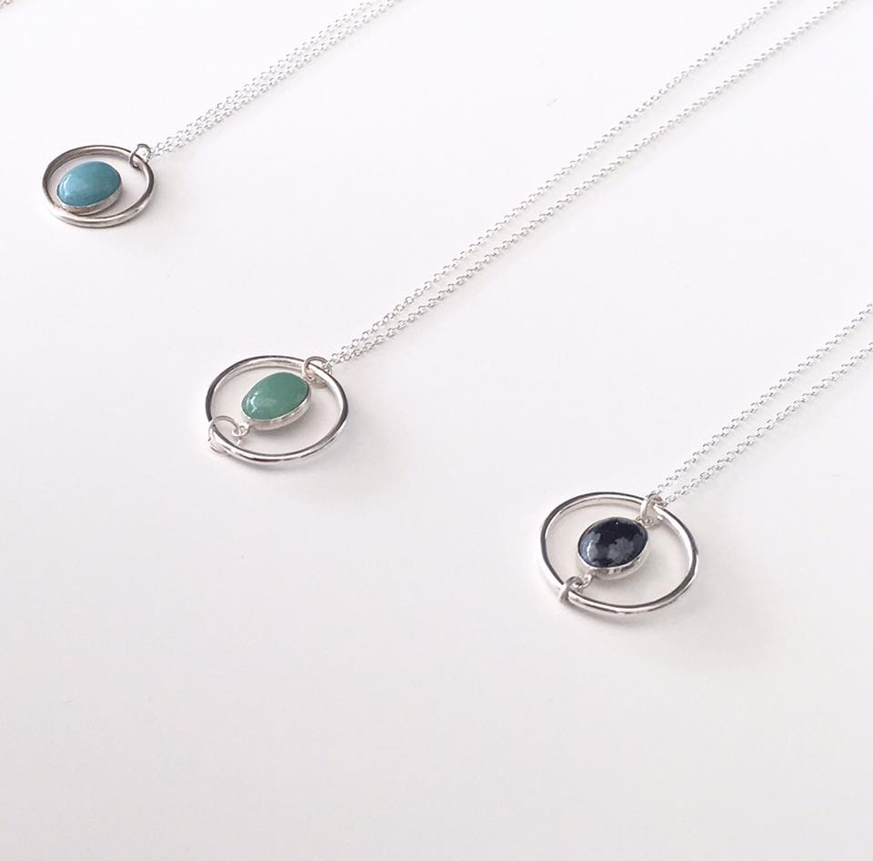 Kate Wainwright Jewellery Silver and Gemstone Necklace's