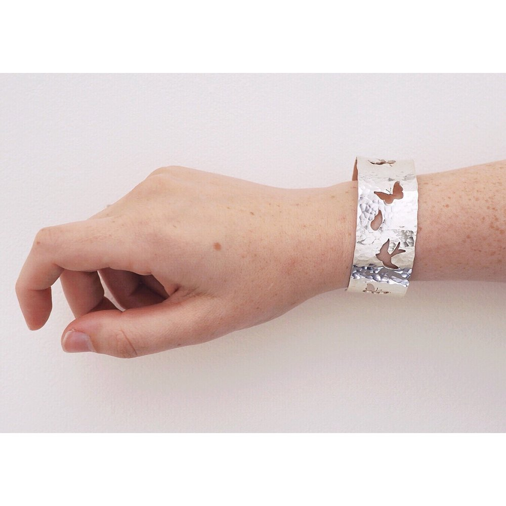 Kate Wainwright | Silver butterfly and swallow cuff