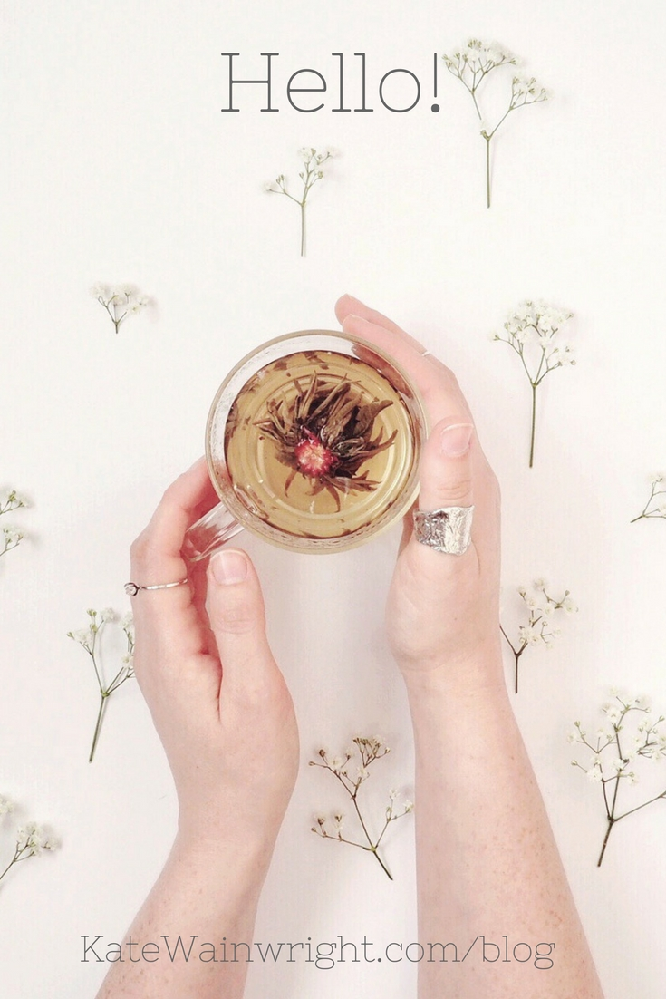 hello | kate wainwright jewellery blog | katewainwright.com | flowering tea gypsophelia