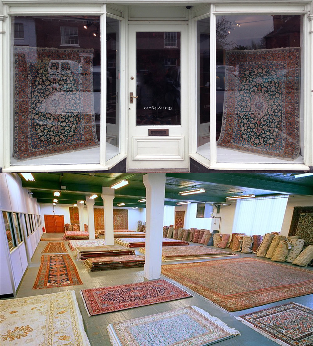 Visit our Hampshire store or London warehouse for expert advice and guidance on our large selection of hand-knotted Persian rugs, carpets, runners & kilims. We offer a range of services including home viewings, rug repair and cleaning, rug valuations, bespoke rug weaving and rug hire.