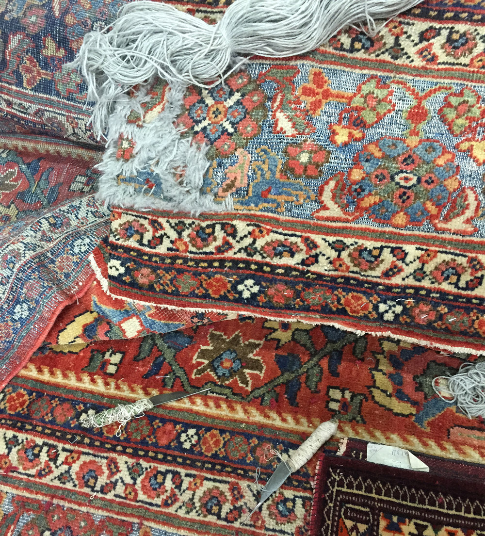 Whether your rug requires major restoration work, cleaning and stain removal or a simple wash and repair, we're certain we can help you. Adhering strictly to the traditional methods specific to each region of Iran, our highly experienced restoration team have worked on major restoration projects across the UK.