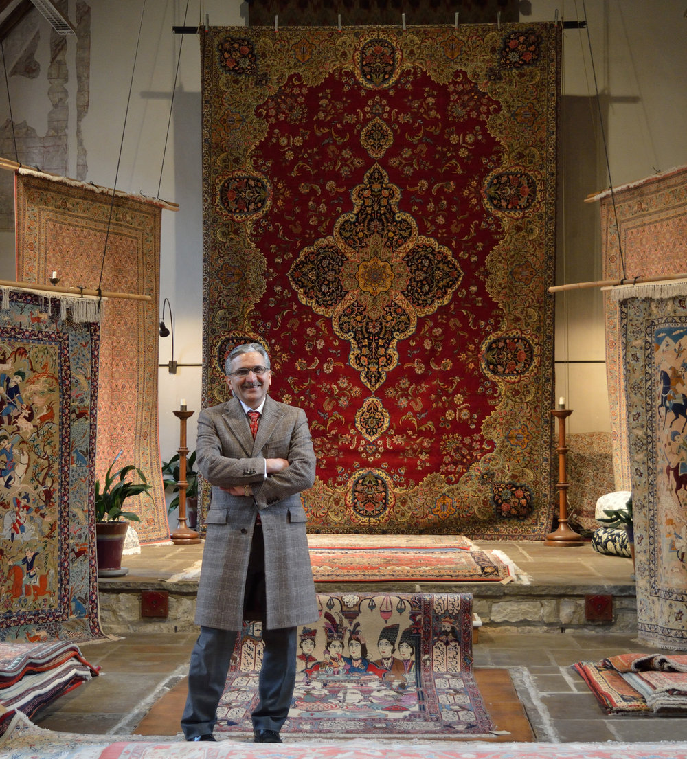Internationally respected Persian carpet specialist Masoud Mazaheri-Asadi travels extensively to source pieces for the Hampshire gallery and London warehouse. Bakhtiyar supplies leading London stores and UK retailers. We also work closely with interior designers both here in the UK and internationally.