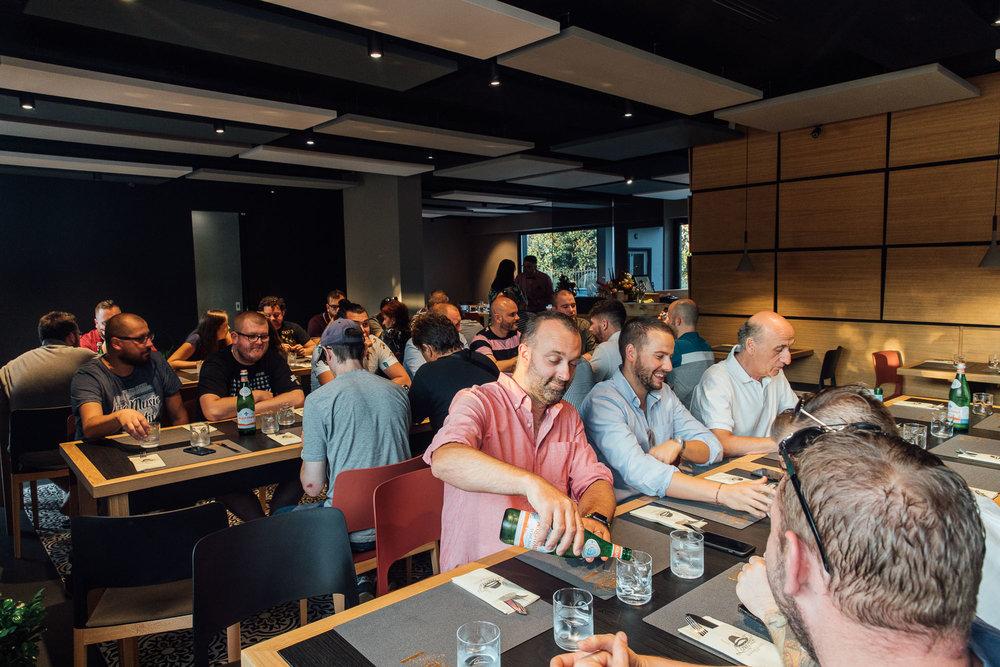 Oakman Inn chefs enjoying dinner at Pizzaria Da Lionello