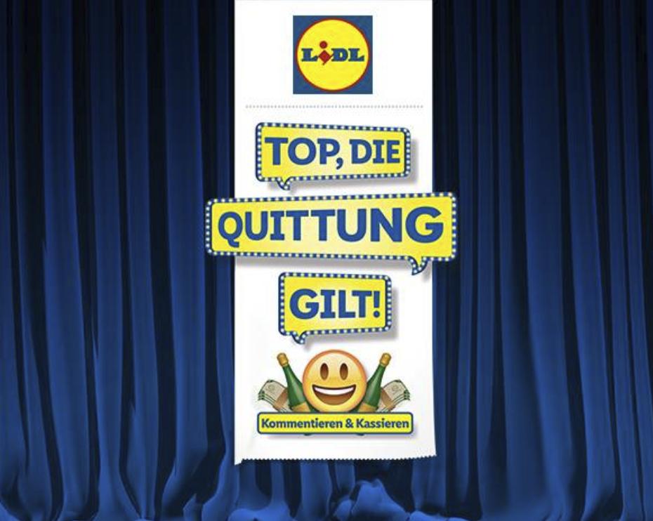Top, die Quittung gilt! |Lidl