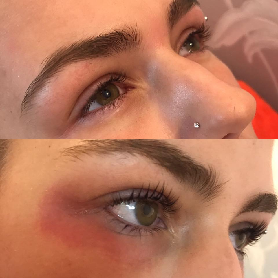 A clients lash lift done by Jodie at 134Beauty, Hawick
