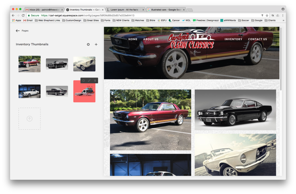 Car Inventory Thumbnails