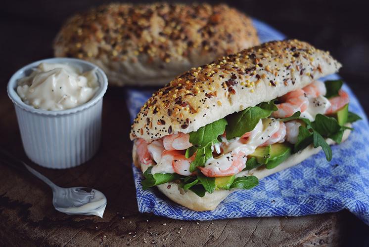 A Little Bit Prawn and Avocado Sandwich