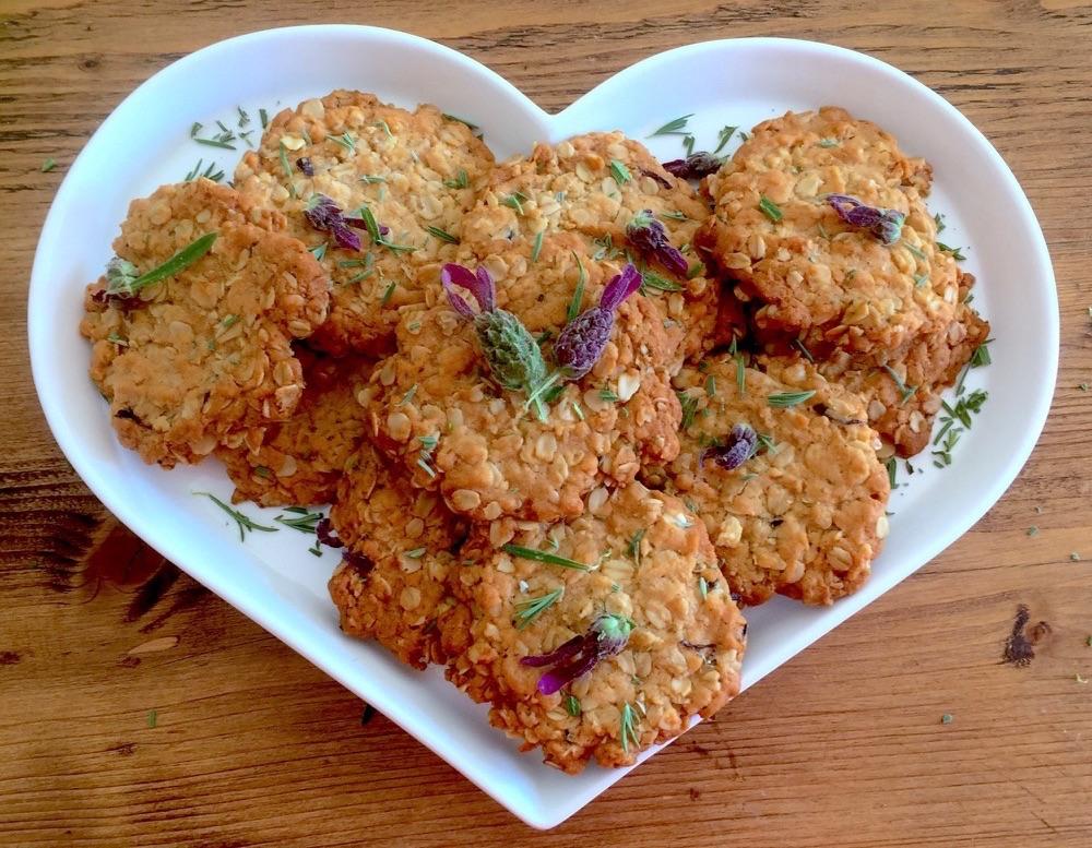 Lavender Oat Cookies
