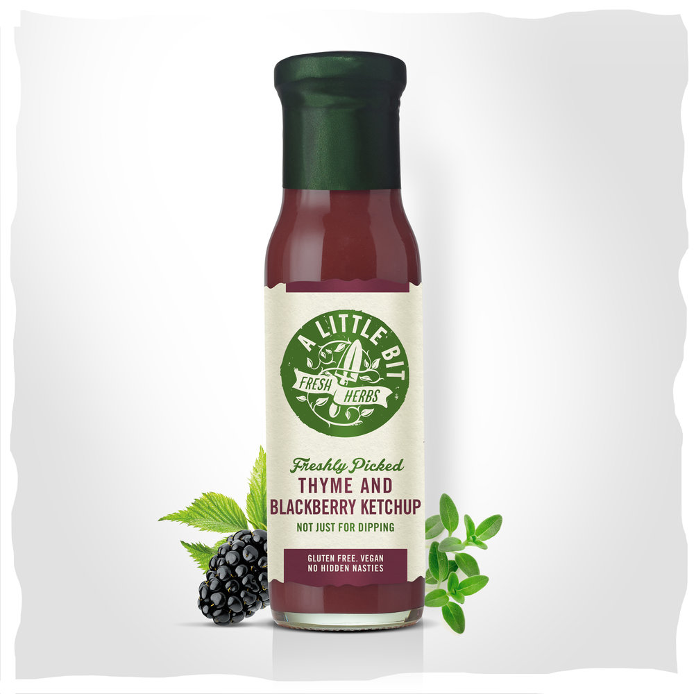 Buy our Thyme and Blackberry Ketchup online.