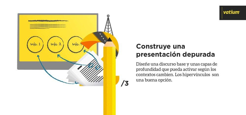 construye una presentación depurada para tu discurso comercial