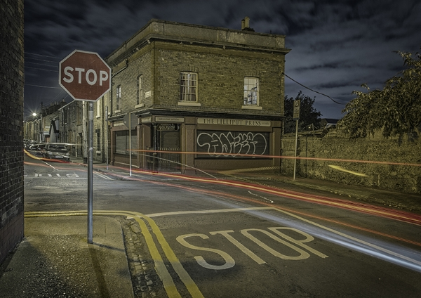 STOP at the Lilliput Press - One of my first long-exposure shots