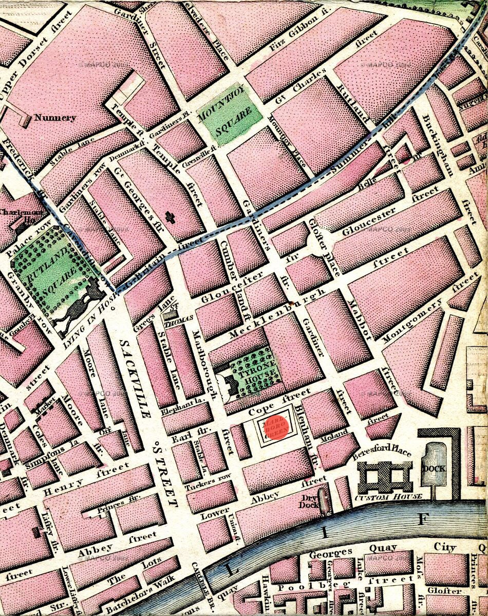 Modern Plan of the city & environs of Dublin 1798