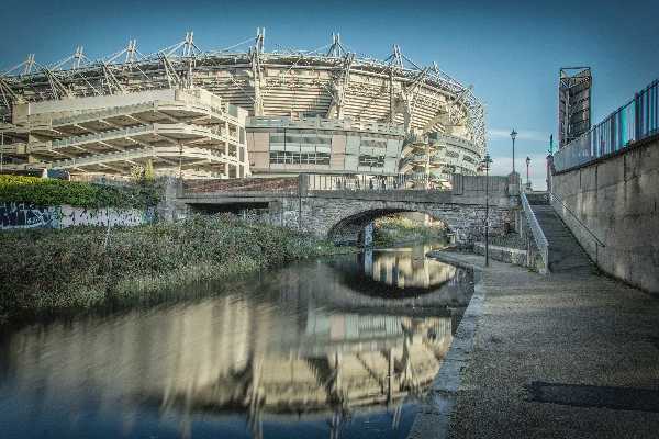 The Royal Canal running by Croke Park