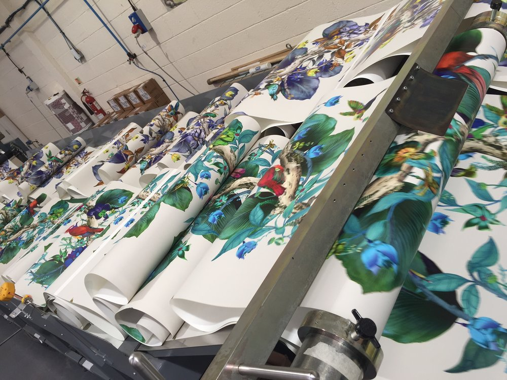 John Mark Ltd, at the cutting edge of digital wallpaper print production