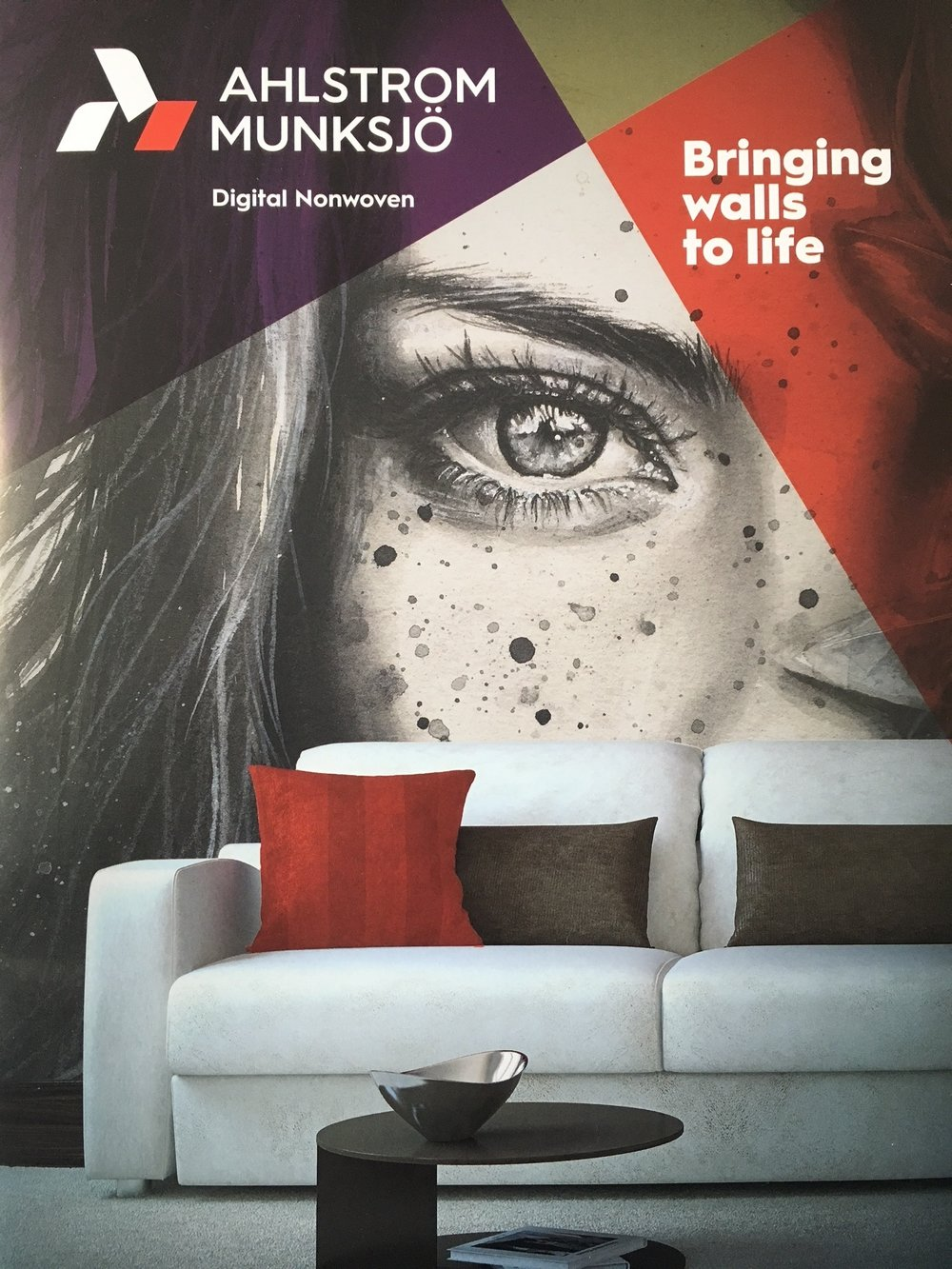 Material innovation is a key part of the development of digital wallcoverings