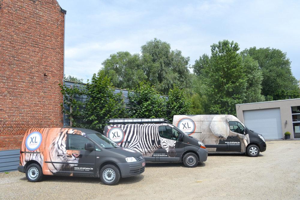 The XL Reklame fleet of vehicles