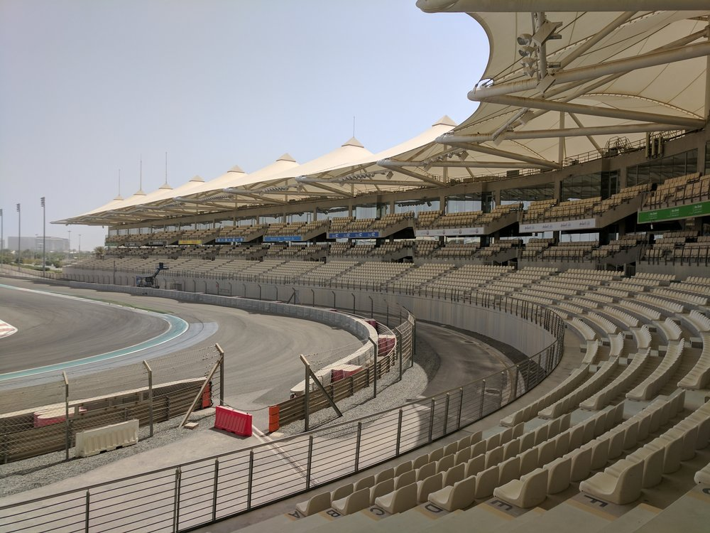 View from the North grandstand