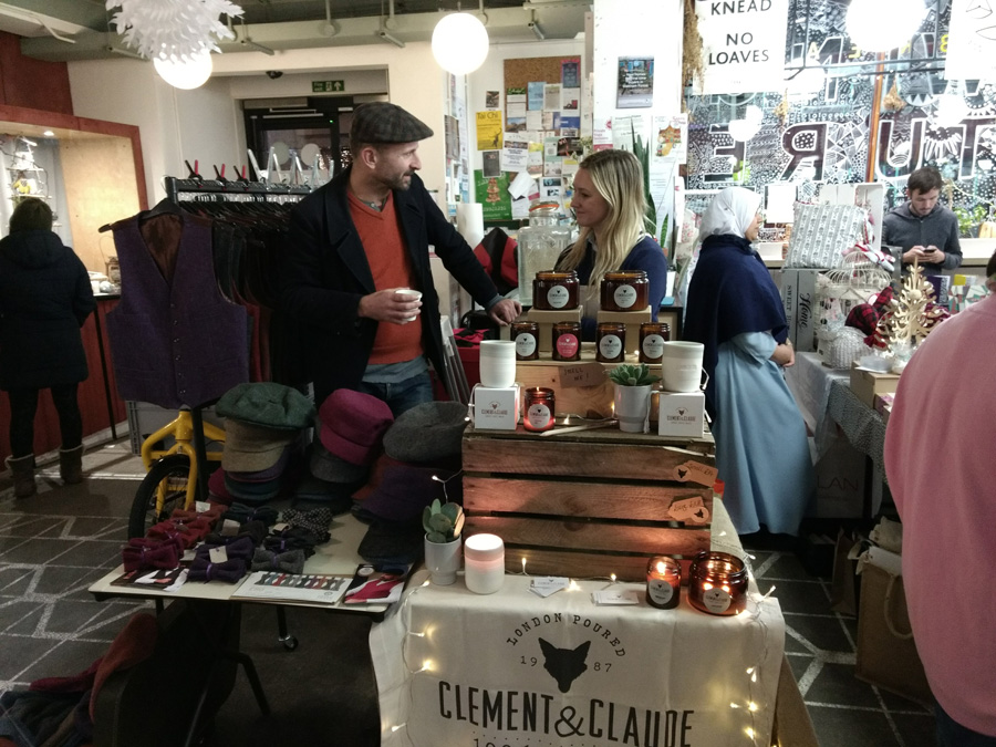 Meanwhile Space Christmas Market event 2017. Image ©MeanwhileSpace
