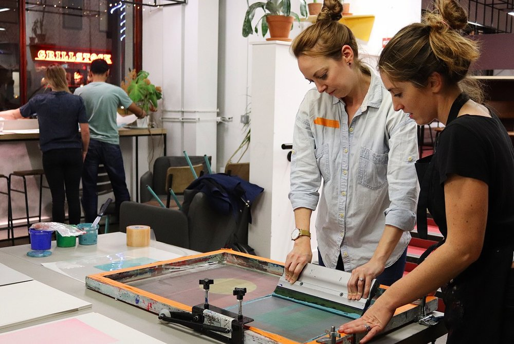LOOK UP screen printing workshop at Today Bread 2018. Image©Look Up Prints