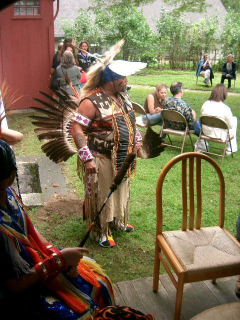 Mohican drummer from Nanapowe at the Mission House 2006
