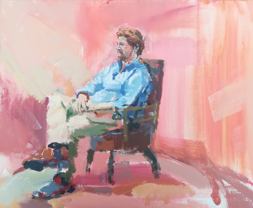 This was the other painting I made of Michael Ball on the Sky Arts portrait artist of the year 2018, S4 Ep7 -