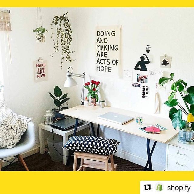#Repost @shopify with @repostapp ・・・ Keep those reminders nearby! Make 🎨 now! #interiordesign #workspace #officespace #sharedspace #design #business #workhard #colorful #entrepreneurs #inspirational #motivational