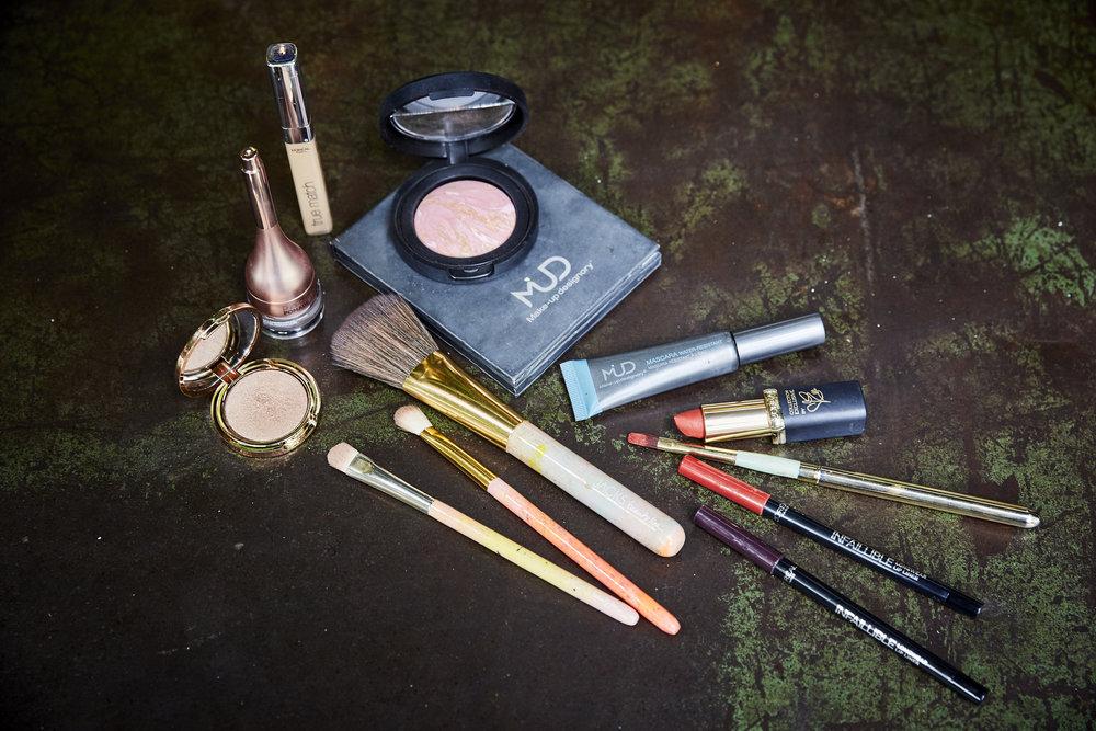 Für meinen Herbstlook habe ich diese Produkte verwendet: JACKS beauty line, Make-up Designory, Laura Geller, Nude by Nature, L' Oréal Paris