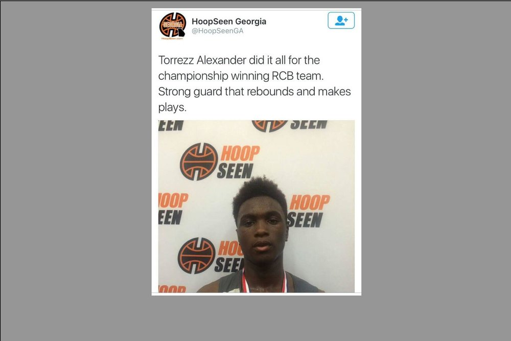 Torrezz Alexander being featured during The Georgia Cup Tournament - 9th Grade