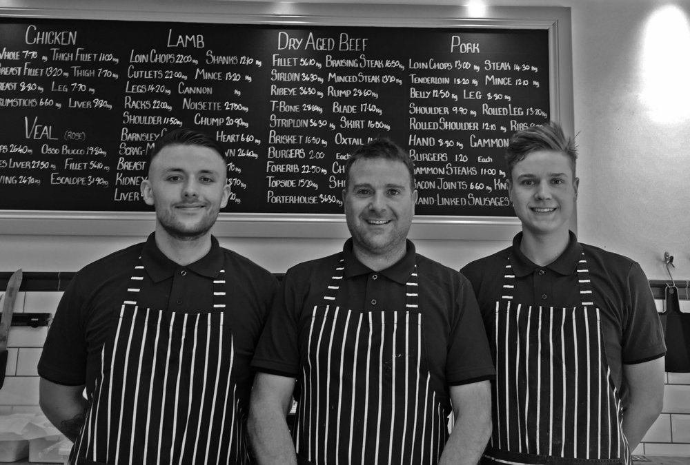 The Butchers at Stoneleigh's - Jon, Leigh and Ben
