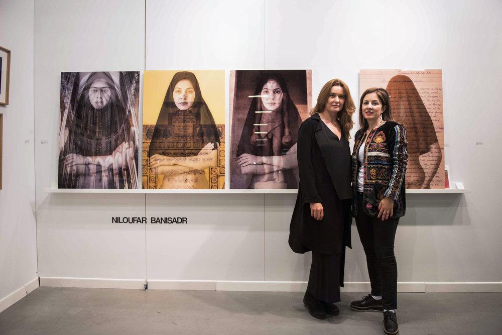 With Iranian artist Niloufar Banisadr