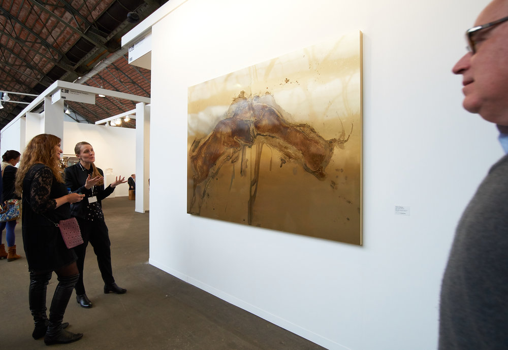 A painting made from an animal carcass