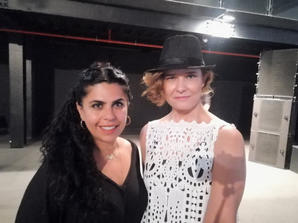 With artist Manal Al Dowayan