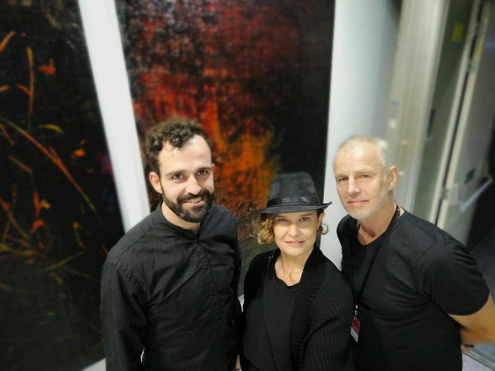 With Dutch artist Jan Tervoort
