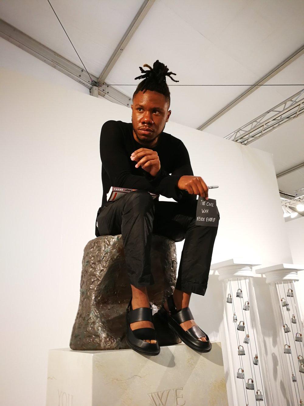 Ti-Rock Moore's Gazing presented by Jonathan Ferrara Gallery, at Pulse Miami