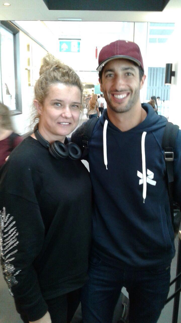 With Formula 1 driver Daniel Ricciardo