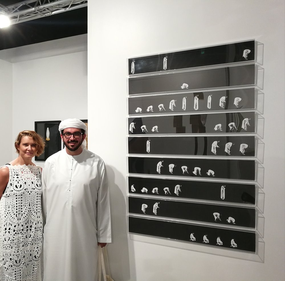 With artist Ammar Al Attar