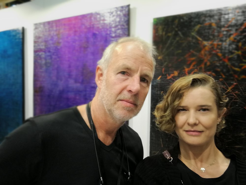 With artist Jan Tervoort