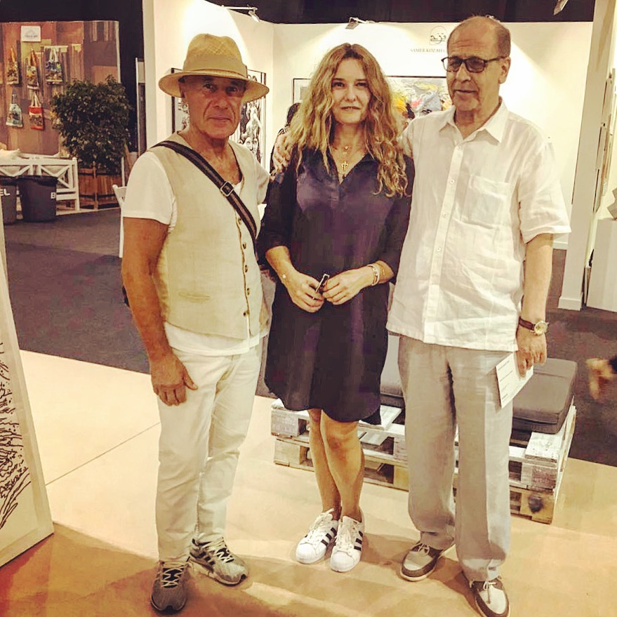 With artists Bahram Hajo and Nabil Shehadeh