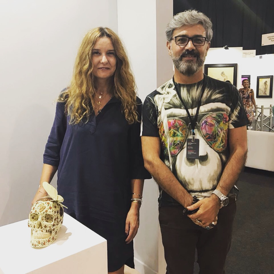 With artist Kuoroah Salehi