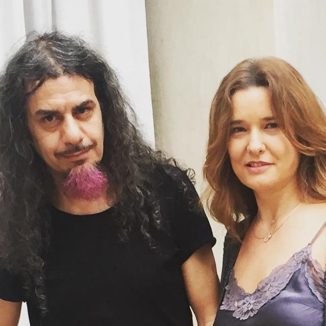 With artist Halim Al Karim