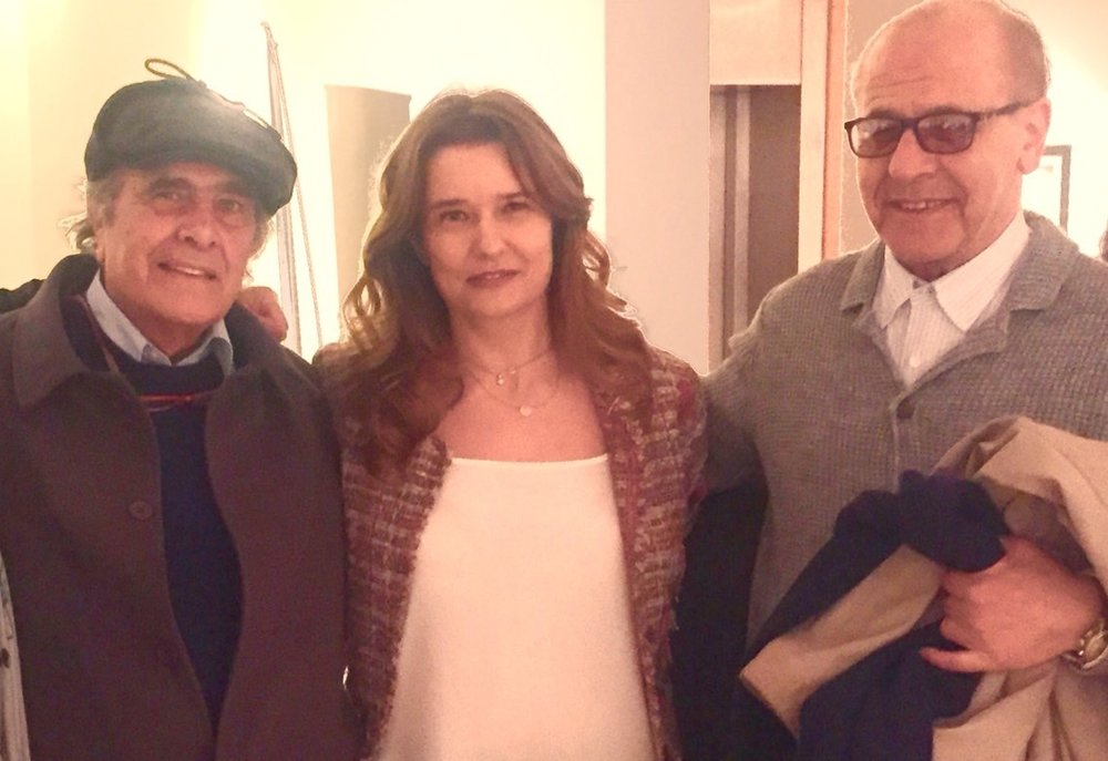 With the great artists Muhanna Durra and Nabil Shehadeh