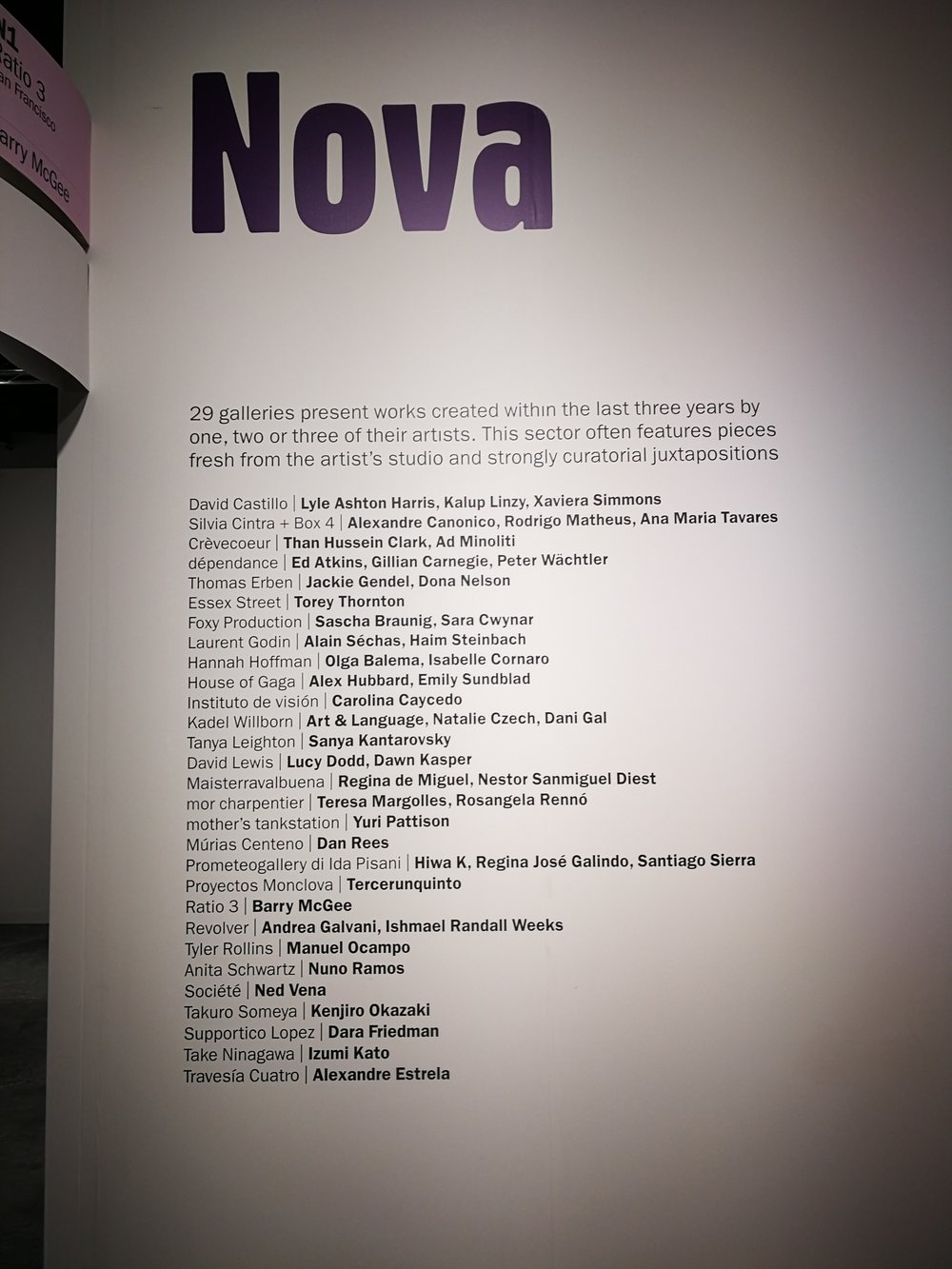 Loved the Nova section at Art Basel Miami, with works created only in the last three years.