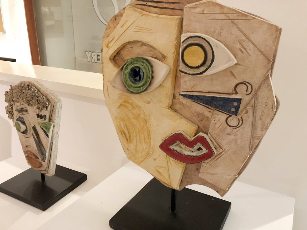 Wooden sculptures by Rula Atalla