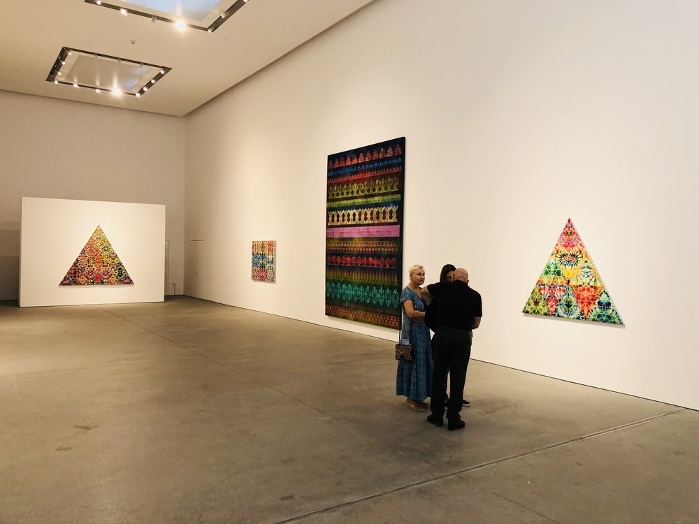 Philip Taaffe's works at Leila Heller Gallery