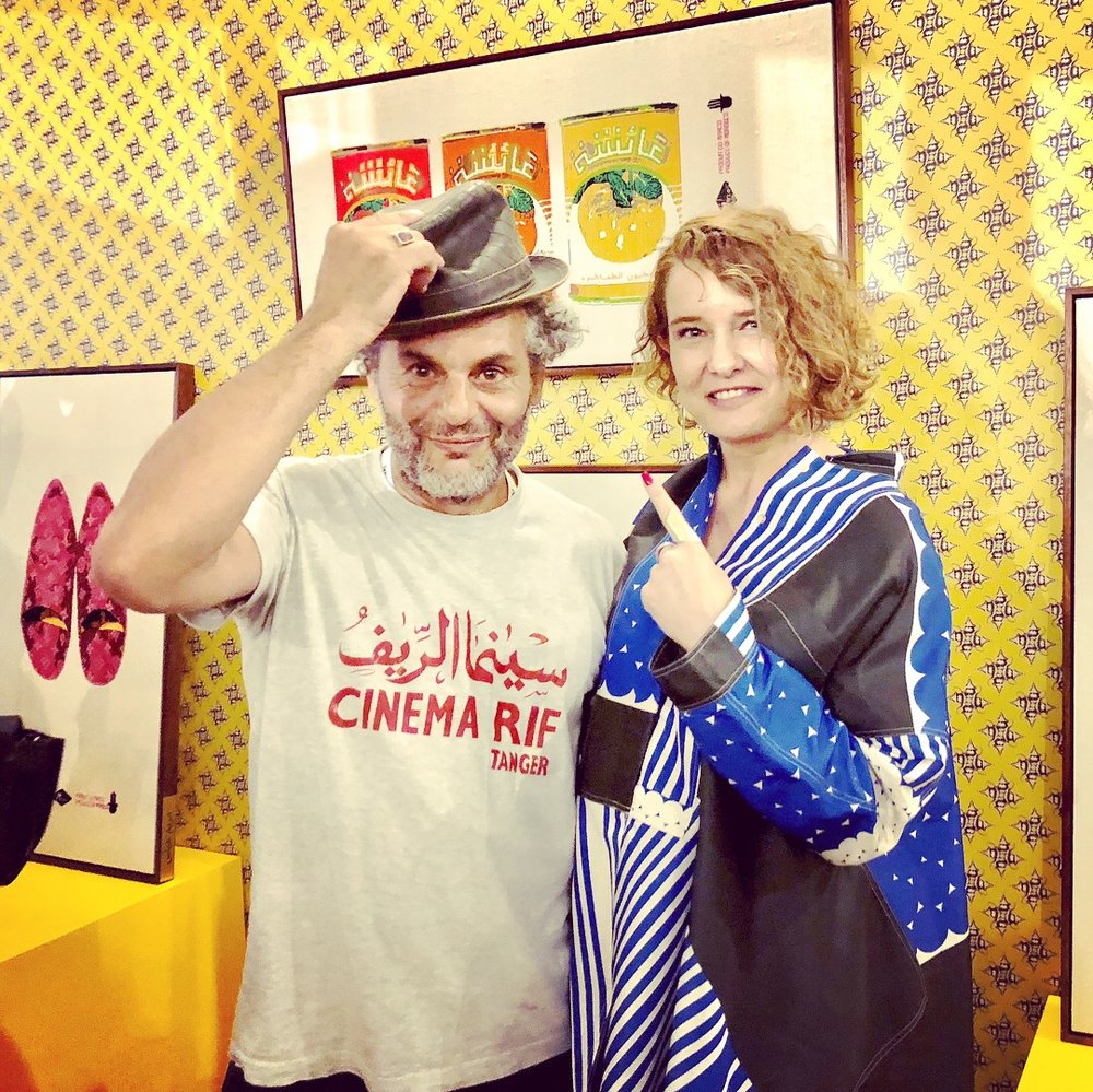 With the lovely Hassan Hajjaj