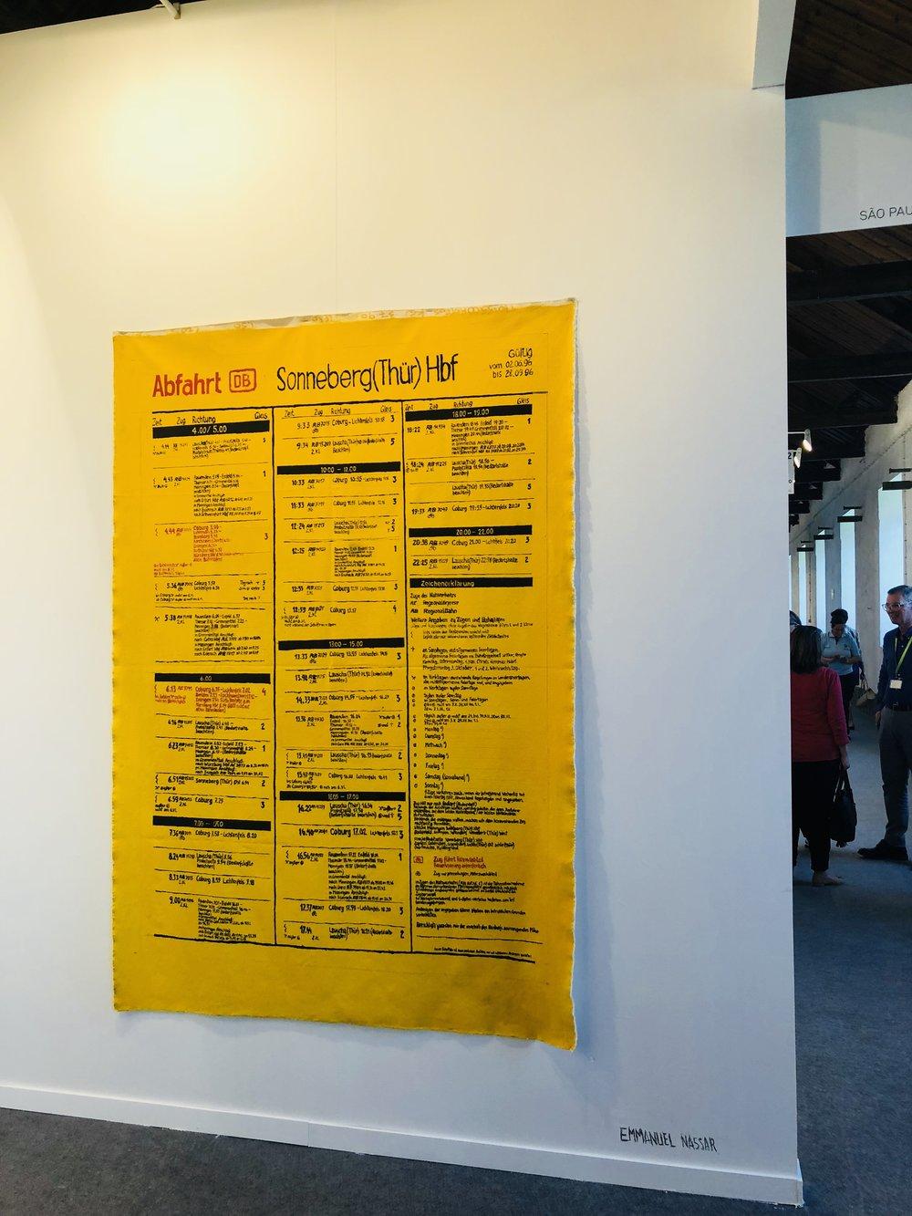 Emmanuel Nassar's Abfahrt at gallery Millan