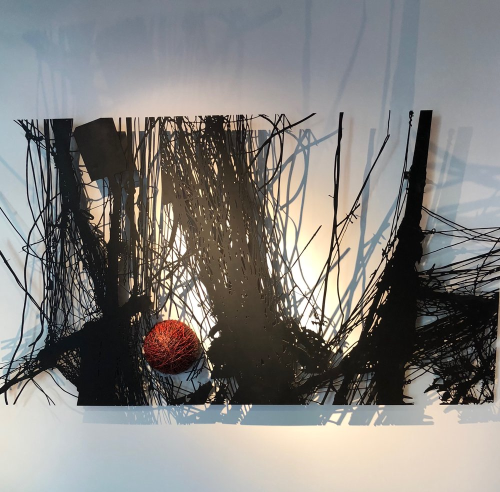 The Wire Web by Iraqi artist Delair Shaker